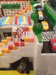 Gingerbread house, scene of NY