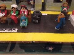 Gingerbread house, scene of NY subway