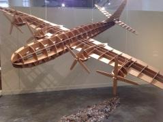 cardboard airplane sculpture