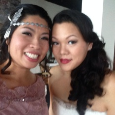 Me and my cousin, the bride