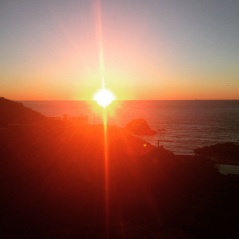 Last sunset of 2014 at Land's End