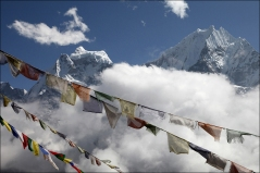 Tibetan Prayer flags to the sky