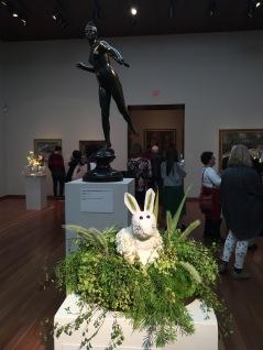Diana, goddess of the hunt, then a bunny as an interpretation